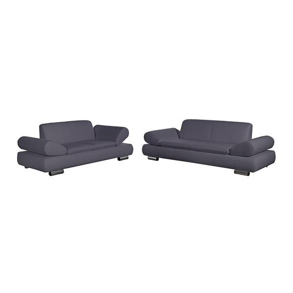 Set 2 canapele cu 2 și 3 locuri Max Winzer Palm Bay, cotiere ajustabile, gri
