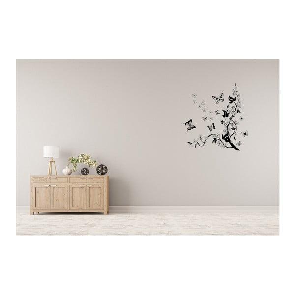 Dekorativní samolepka Pnoucí květiny, 100x86 cm