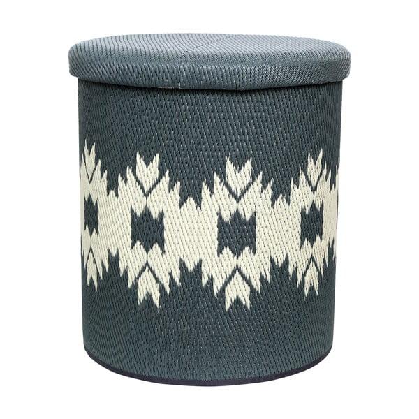 Sivý vonkajší puf s úložným priestorom Fab Hab Miramar Gray