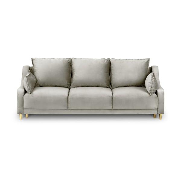 Béžová třímístná rozkládací pohovka s úložným prostorem Mazzini Sofas Pansy