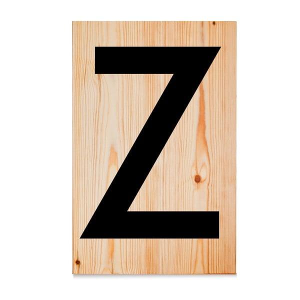 Dřevěná cedule Letters Z
