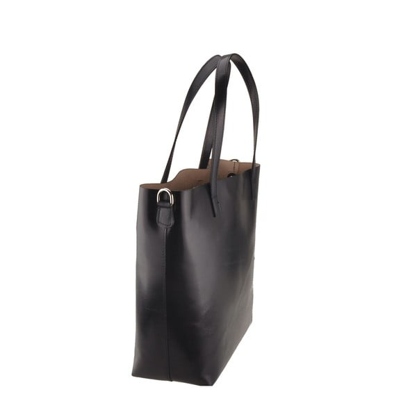 Tmavě modrá kožená kabelka Florence Tangor