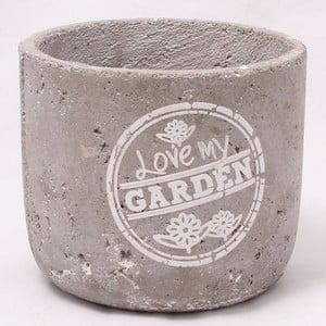 Cementový květináč Garden, 17 cm