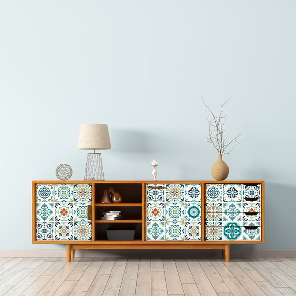 Zestaw 30 naklejek na meble Ambiance Tiles Stickers For Furniture Angia, 20x20 cm