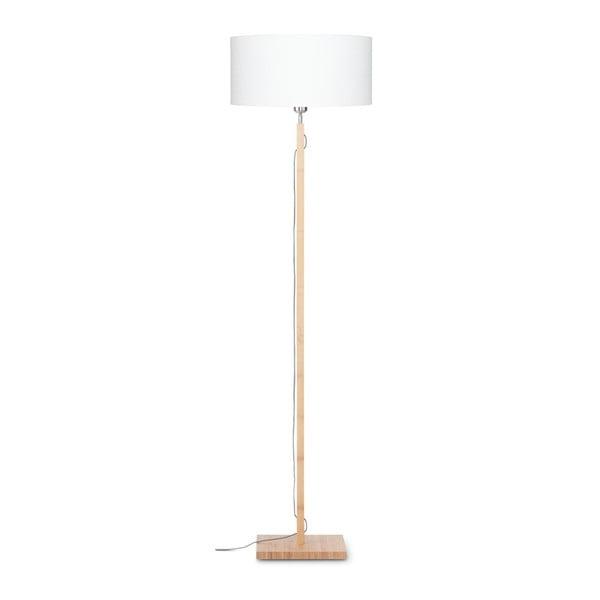 Fuji állólámpa fehér búrával és bambusz lámpatesttel - Good&Mojo