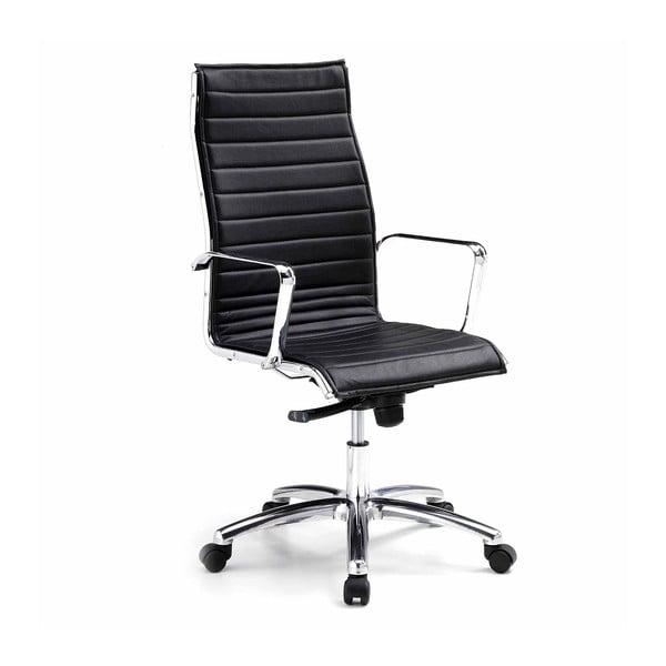 Černá kancelářská židle s kolečky Zago High Chrono