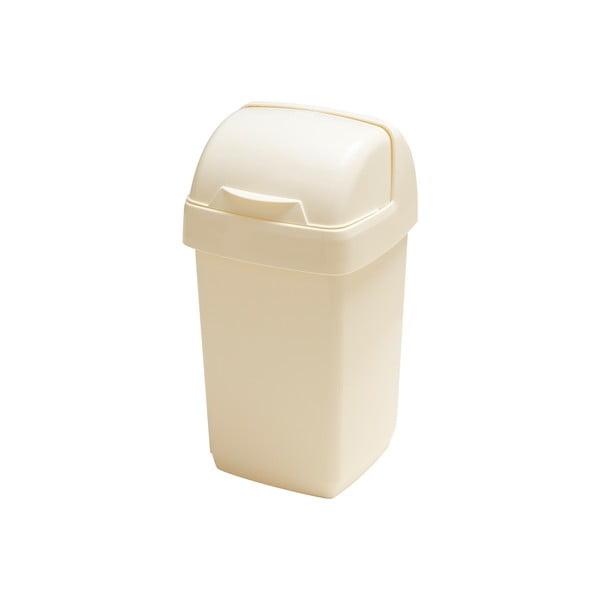 Krémový odpadkový koš Addis Roll Top, 22,5 x 23 x 42,5 cm
