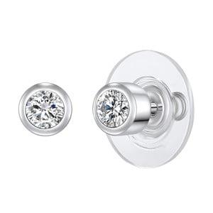 Dámské náušnice stříbrné barvy Runaway Crystal
