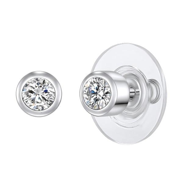 Cercei Runaway Crystal, argintiu