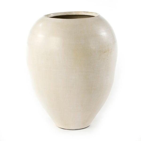 Krémová dekorativní váza Thai Natura Terracotta, 70x60cm