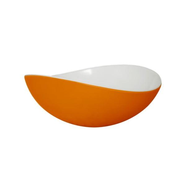 Oranžová miska Entity, 16.5 cm