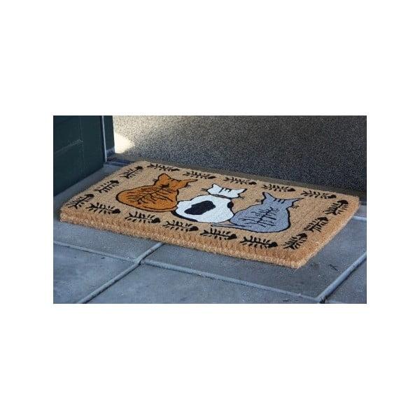 Rohožka  Waiting Cats, 75x45 cm