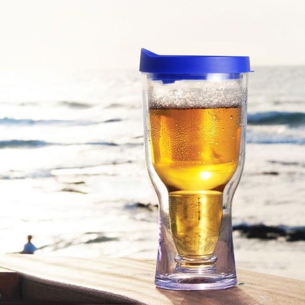 Nezničitelná sklenice na pivo Brew2Go, modrá