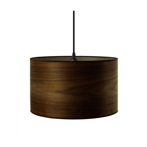 Stropní svítidlo z přírodní dýhy v barvě ořechového dřeva Sotto Luce TSURI,Ø40cm