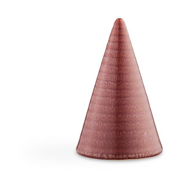 Červená kameninová dekorativní soška Kähler Design Glazed Cone Rusty Red, výška 11 cm