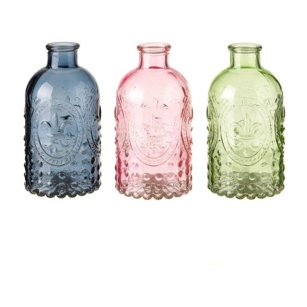 Sada 3 skleněných váz Unimasa Luciana