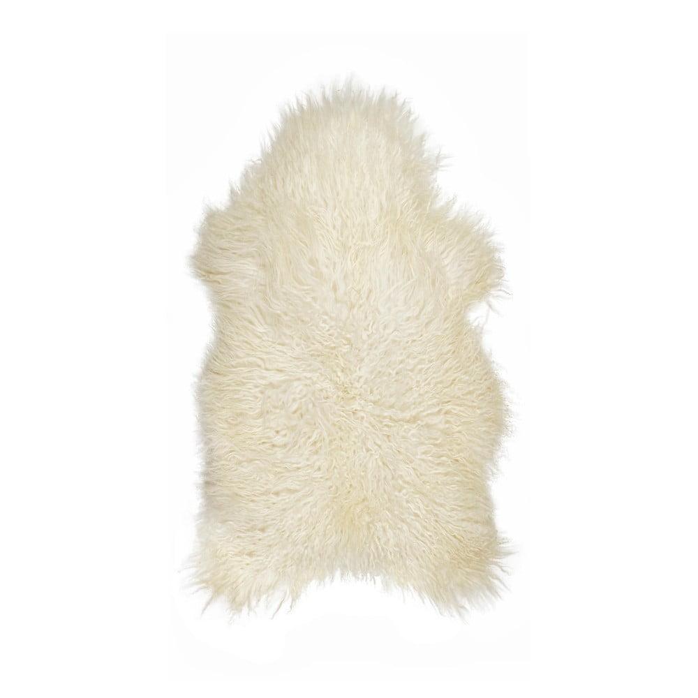 Krémová ovčí kožešina s dlouhým chlupem Ice, 100 x 60 cm