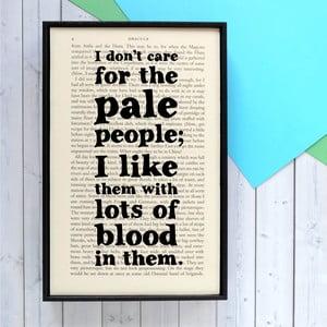 Plakát v dřevěném rámu Dracula Pale