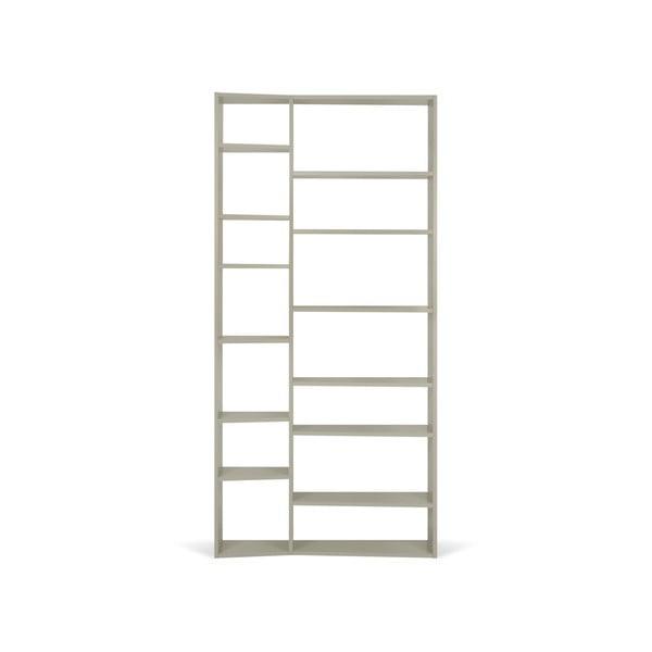 Valsa szürke könyvespolc, magasság 224 cm - TemaHome