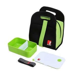 Set zeleného svačinového boxu a chladící tašky Bergner Walking