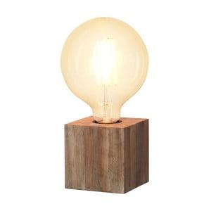 Veioză din lemn Best Season Kub, culoarea lemnului