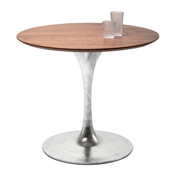Deska jídelního stolu v ořechovém dekoru Kare Design Invitation, ⌀ 90 cm