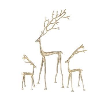 Set 3 decorațiuni pentru Crăciun Boltze Frody, auriu