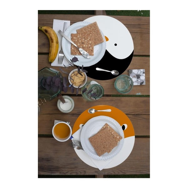 Sada 2 prostírání Little Nice Things Fox & Penguin, ⌀ 32 cm