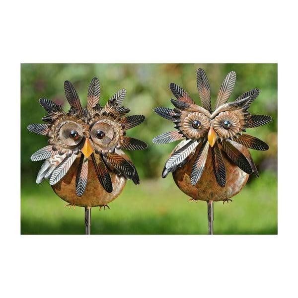 Sada 2 zahradních dekorací Owl, 138 cm