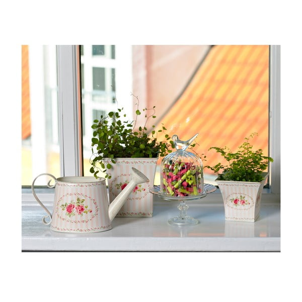 Sada květináčů se vzorem, růžové, 2 ks