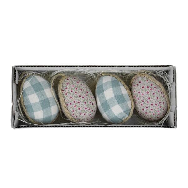 Set 4 ouă decorative de Paști în cutie, 19 x 5 cm