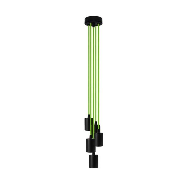 Pětice závěsných kabelů Cero, zelená/černá