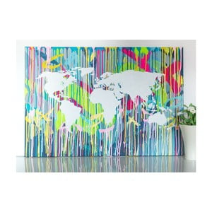 Obraz Colorful World Map I, 100x70 cm