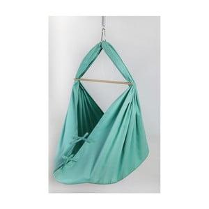 Mentolově zelená kolébka z bavlny se zavěšením do dveří Hojdavak Baby XL (0až9 měsíců)