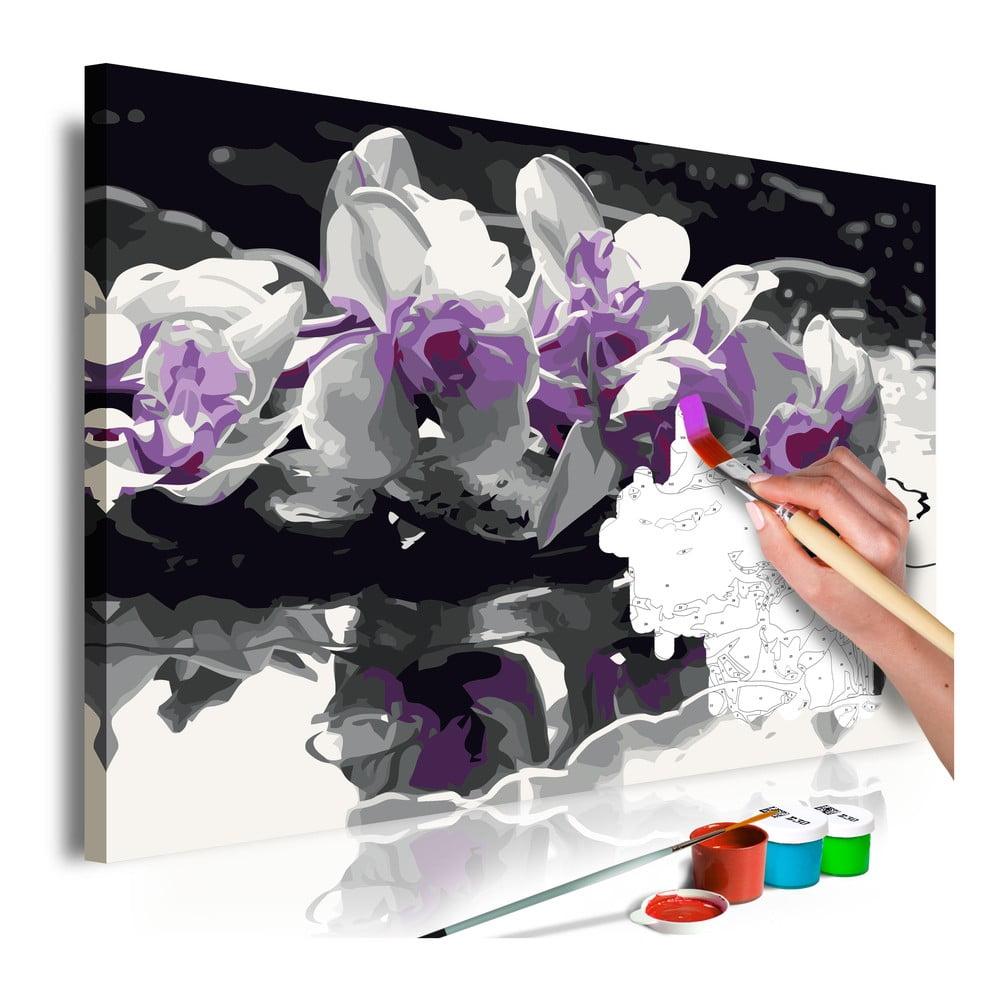 DIY set na tvorbu vlastního obrazu na plátně Artgeist Orchid Reflection, 60x40 cm