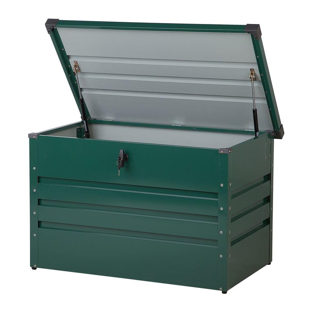 Tmavě zelený zahradní úložný box Monobeli Oklahoma, 100 x 62 cm