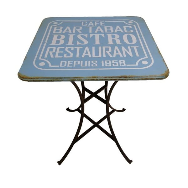 Pub Blue fém asztal