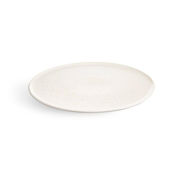 Bílý kameninový talíř Kähler Design Ombria, ⌀ 22 cm