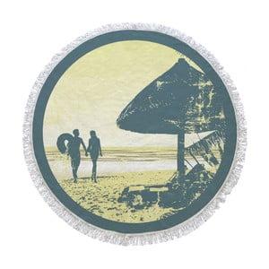 Kruhová plážová osuška La Chanta Sahil Round Beach Towel, ⌀ 1,5 m