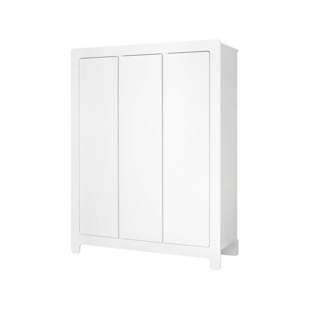 Bílá šatní skříň Pinio Moon, 185x142cm
