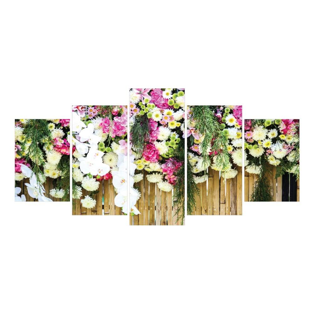 Tablou din 5 piese la maison des couleurs flowers bonami - La maison des couleurs ...