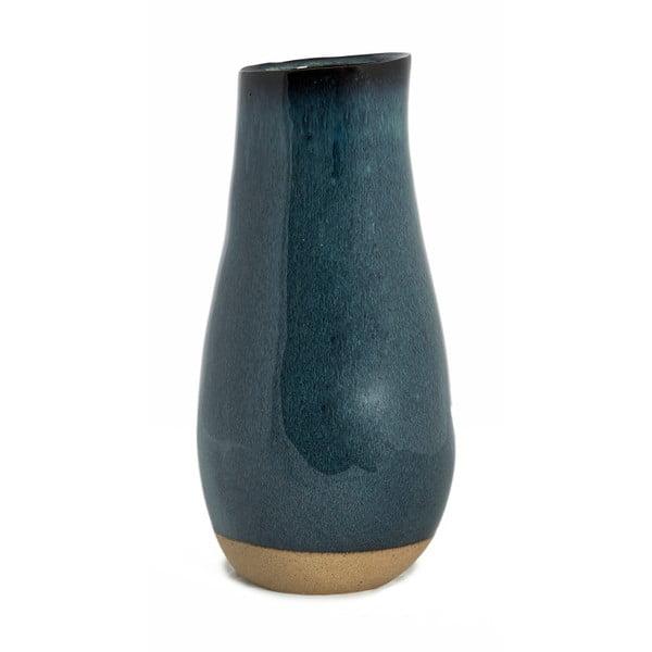 Šedomodrá keramická váza Simla Soft, výška34,5cm