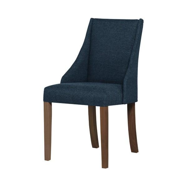 Modrá židle s tmavě hnědými nohami z bukového dřeva Ted Lapidus Maison Absolu