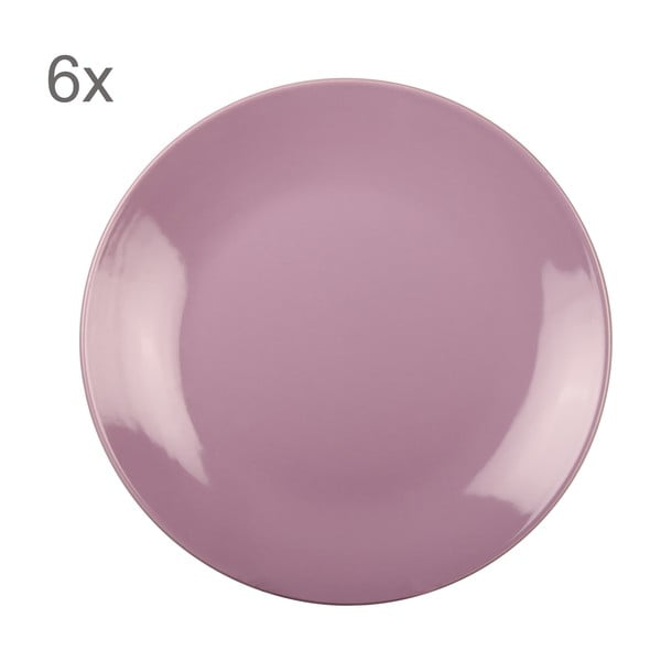 Sada 6 talířů Kaleidos 27 cm, fialová