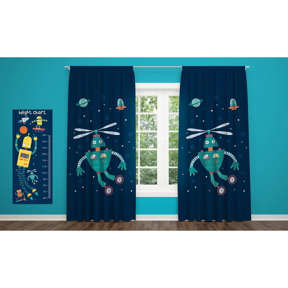 Závěs OYO Kids Fox Kids In Space, 140 x 240 cm