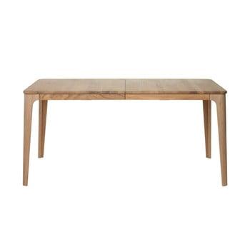 Masă dining extensibilă din lemn de stejar alb Unique Furniture Amalfi, 90 x 160/210 cm imagine