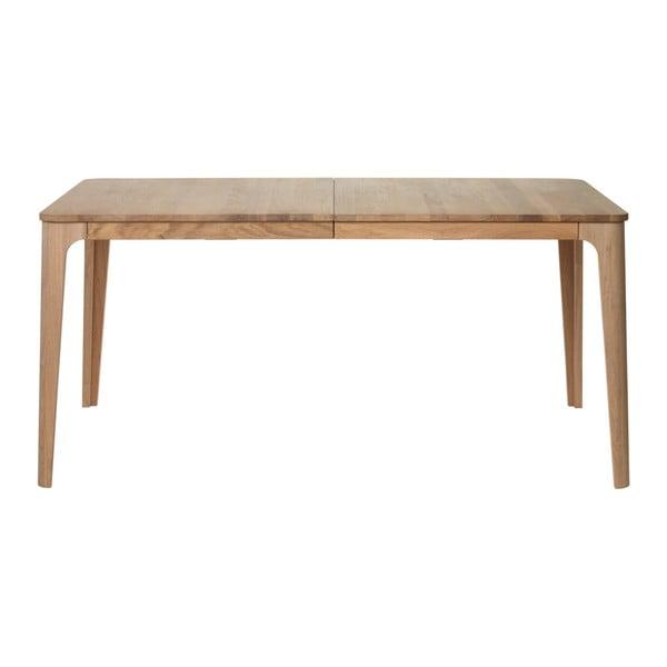 Rozkladací jedálenský stôl z dreva bieleho duba Unique Furniture Amalfi, 90×160/210 cm