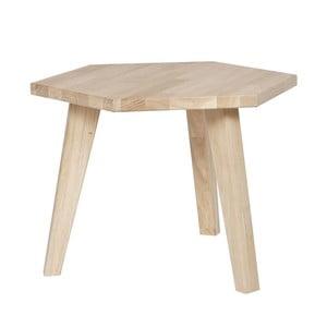 Odkládací stolek z dubového dřeva WOOOD Hex