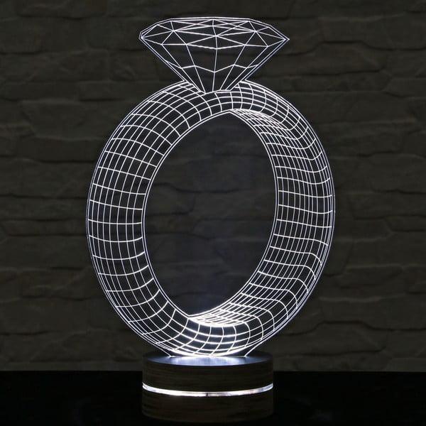 3D stolní lampa Ring