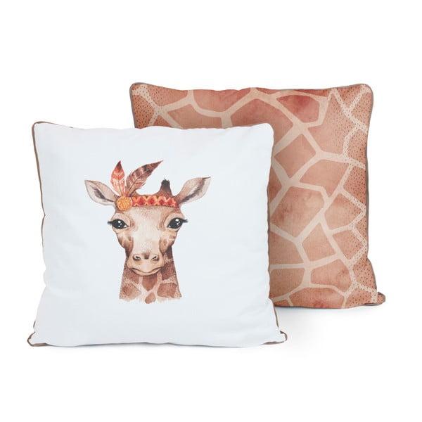 Oboustranný polštář Tanuki Indian Giraffe, 50x50cm
